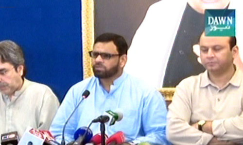 MQM to observe 'black day' over Khusrheed Shah's 'Muhajir' comment