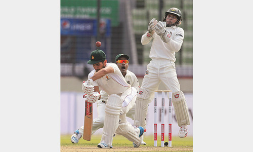 Shakib marks return to fold with rich haul in first Test