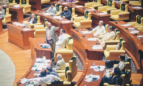 Commotion in Sindh Assembly over mention of hit men