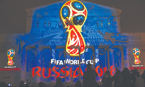Blatter reveals 2018 World Cup logo