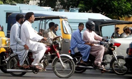 Pillion-riding ban for three days in Sindh