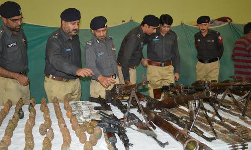 Balochistan arms' haul