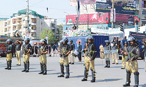 Security measures for 9th, 10th Muharram planned