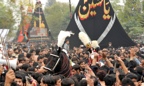 Muharram procession in capital ends peacefully