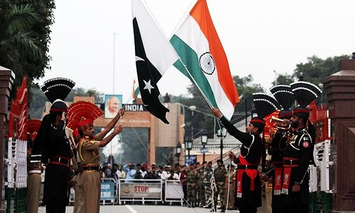 People defy terrorists, attend flag-lowering ceremony at Wagah