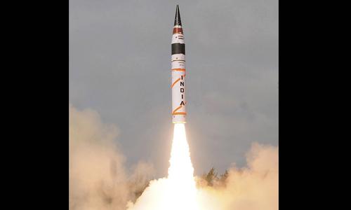 India test-fires nuclear capable strategic ballistic missile