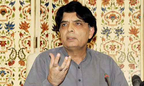 Lawmakers protest Nisar's absence from standing committees