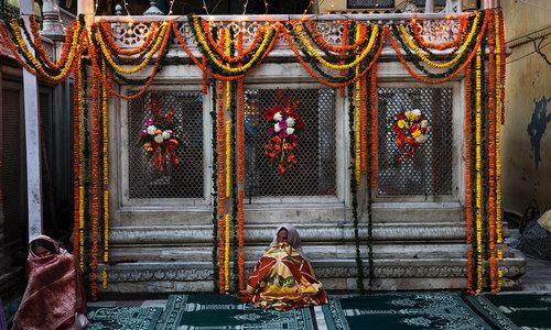 The dargah in Delhi