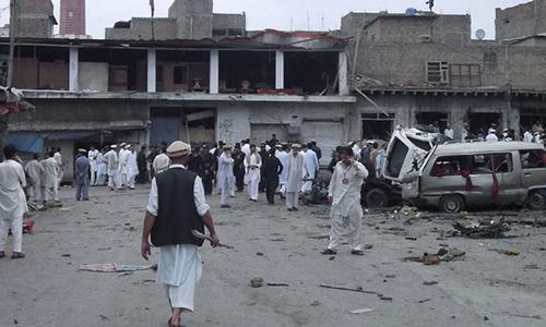 Two dead, five injured in roadside blast near Parachinar school van