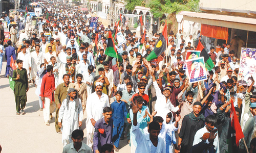 Rival PPP groups hold rallies against each other in Badin
