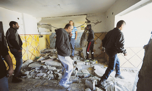 Israel demolishes home of  Palestinian  bombing suspect
