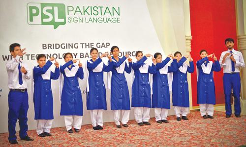 Pakistan's first sign language digital tools developed