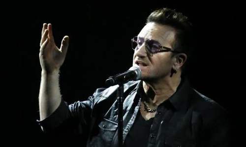 U2's Bono fitted with metal plates, screws after bike accident