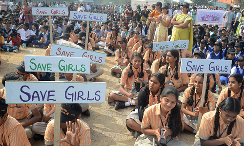 Indian school children rally against child sex abuse