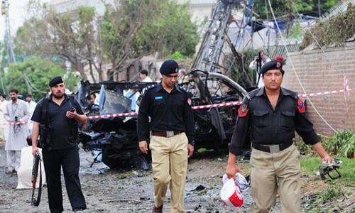 Blast in Peshawar kills security man, wounds another