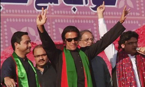 Making inroads in Sindh: Imran addresses supporters in Larkana