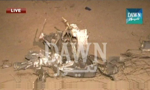 PAF training jet crashes on outskirts of Karachi