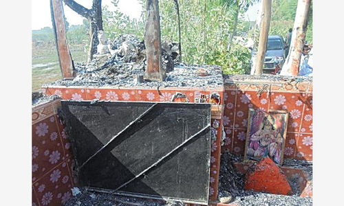Hindu temple torched in Tando Mohammad Khan