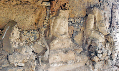 Ancient sculptures crumbling due to lack of attention