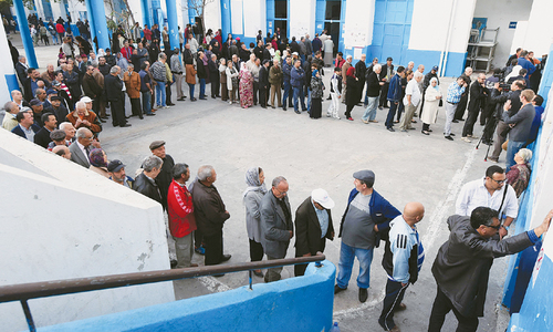Tunisians vote in presidential election