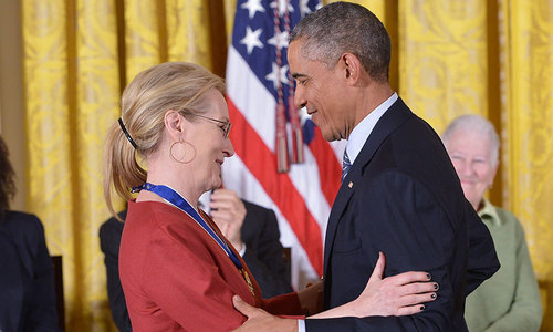 Obama honors Meryl Streep with Presidential Medal of Freedom