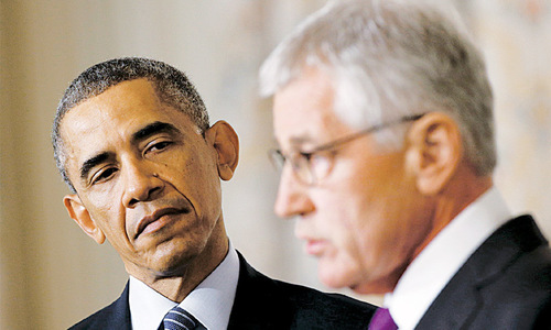 Hagel resignation comes at a messy time for US