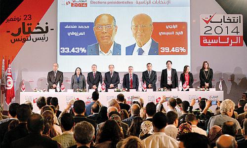 Anti-Islamist leads Tunisia's presidential race
