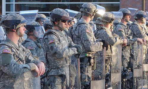 Protests in US cities as troops deployed in Ferguson