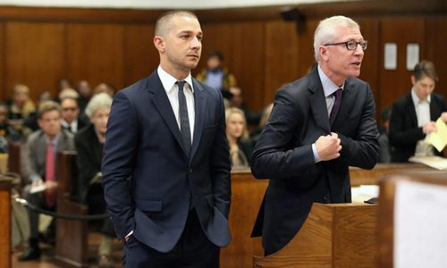 Shia LaBeouf appears in NY court in disorderly conduct case