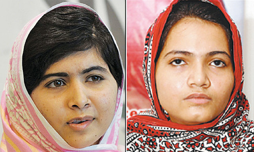 Malala invites Kainat to Nobel award ceremony