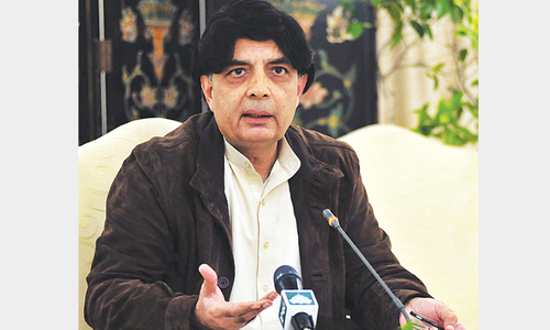 Nisar optimistic about talks with PTI after 30th