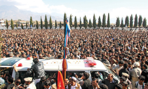Slain Shia leader laid to rest in Parachinar