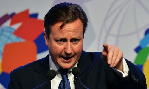 Cameron urges migrant curbs, warns of Britain's EU exit