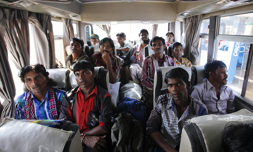 Released Indian fishermen homeward bound