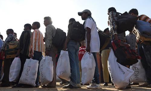 Released Indian fishermen homeward bound