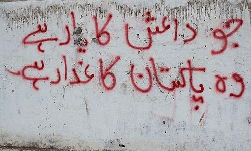 Anti-Islamic State graffiti emerges in Karachi