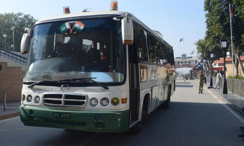 Dosti Bus restricted to Wagah border