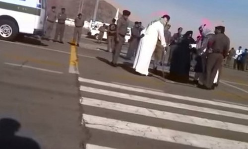 A Saudi beheading, an IS beheading