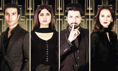 Feroz Khan as Azar, Sajal Ali as Rameen, Syed Jibran as Nubair and Arjumand Rahim as Manahil —Publicity photo