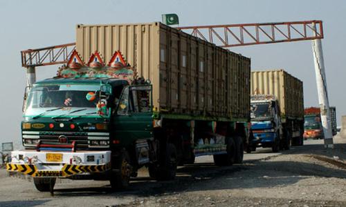 Falling Afghan transit trade