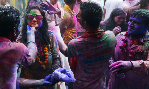 In Karachi, a human shield for Hindus celebrating Holi