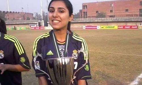 Faiza Mahmood — One player, three goal posts
