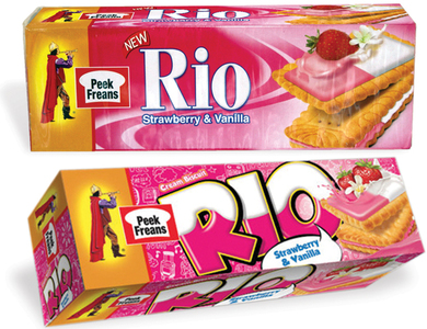 Rio went through a series of visual changes and it was disconcerting at one point to see three different versions of the packaging on the shelf at the same time.