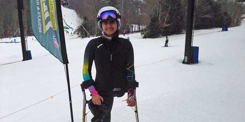 Pakistani girl who lost a leg in 2005 earthquake partakes in ski competition