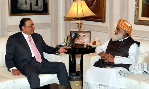 Fazl calls on Zardari