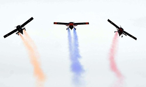 Flying colours: Air show concludes week-long Balochistan Sports Festival
