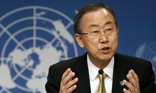 Syrians' suffering 'haunt the soul', says UN chief
