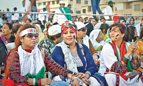 MQM rally participants pin their  hopes on Altaf