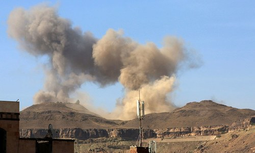 Air strike on missile base in Yemen capital causes huge explosion: residents