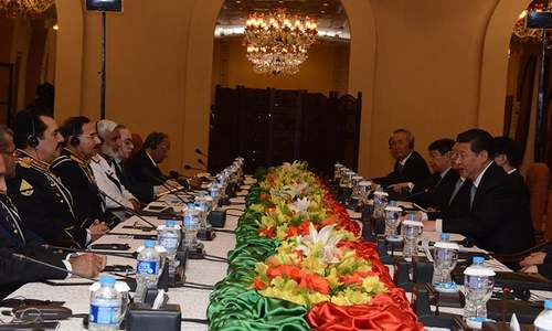 Military heads met President Xi Jinping and discussed with him matters related to defence and security. -Photo ISPR